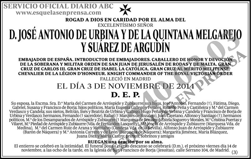 José Antonio de Urbina